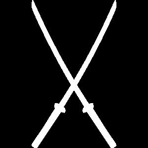 Katana Asien Waffen Samurai Schwert gekreuzt
