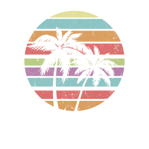 Palm Tree Sunset Silhouette Surfing