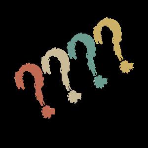 Fragezeichen Retro farbig