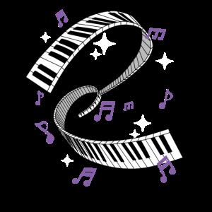 Awesome Piano Player Geschenk drucken Klavier Tastatur