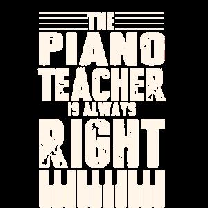 Lustige Klavierlehrer Design Klavierunterricht immer
