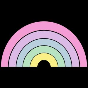 Candy Regenbogen Pastellfarben