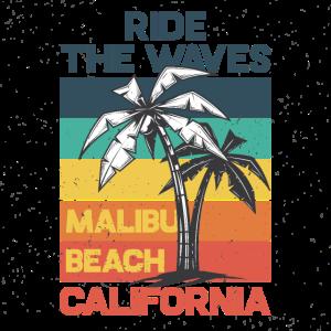 Wellenreiten Surfen Malibu Beach Kalifornien Palme