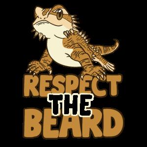 Funny Bearded Respect The Beard Dragon Lizard