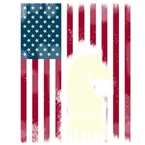 Schach pferd usa flagge amerika