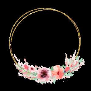 soft green pink wreath