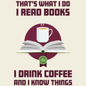 Buch und Kaffee, dunkel