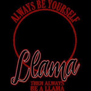Sei ein Lama
