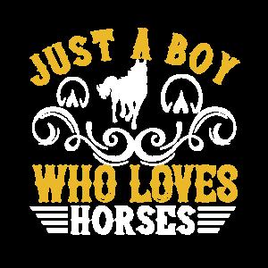 Pferd. T-Shirt ein Pferdejunge