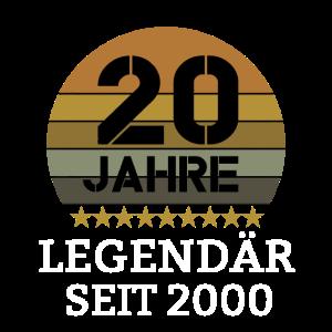20. Geburtstag Vintage