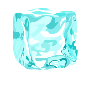 cube ice cyan
