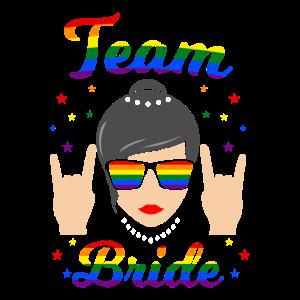 Team Bride LGBT Lesbe JGA Junggesellinnenabschied