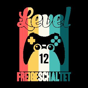 Level zwölf freigeschaltet Gaming Geburtstag