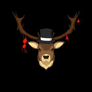 Deer Hirschkopf Hirsch Lustig