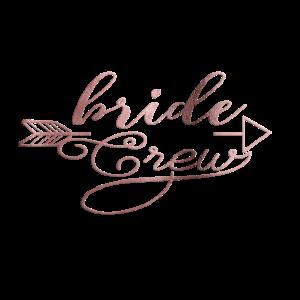 Personalisierbar Bride Crew Arrow Rosegold
