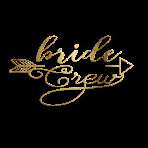 Personalisieren Bride Crew Arrow Gold
