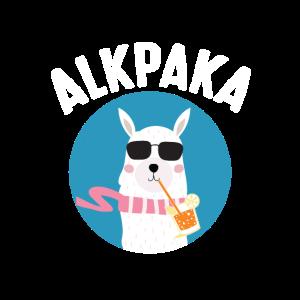 Alpaka mit Sonnenbrille | Sommer Sonne Cocktail