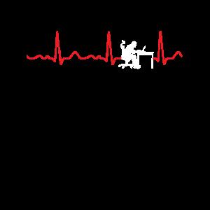 Informatiker - Herzschlag, Herzlinie, Puls, EKG, r