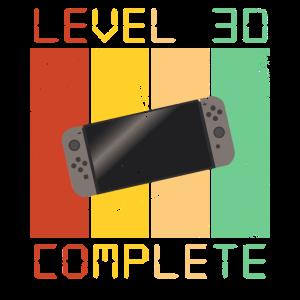 Level 30 Complete Controller Zocker Gamer Geschenk