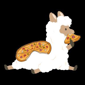 Lama Alpaka Pako Pizza Fast Food Faul Scheibe