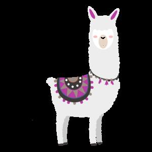 Lama Alpaka Pako Niedlich Süß Comic Tier Llama