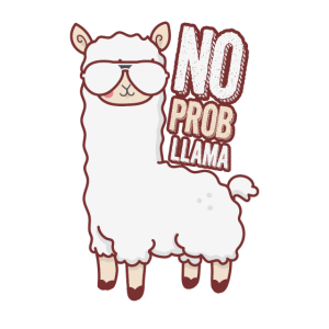 Lama Alpako Pako No Problem Llama Cool Lustig Witz