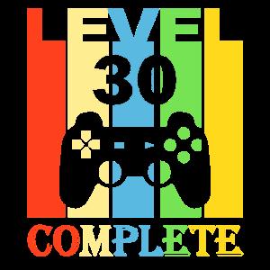 30. Geburtstag Männer 30 Jahre Level 30 1990 Deko