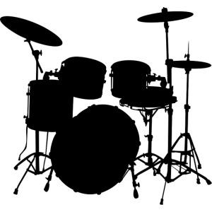 Drums in black