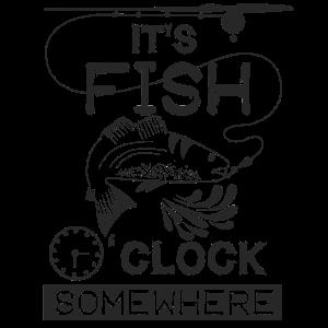 Fisch Uhr Lustig Fischer