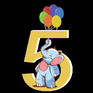 5. Geburtstag Elefant 5 Jahre Kostüm Geschenk