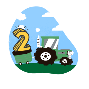 Kinder drei 2 Jahre Traktor Geburtstag Geschenk