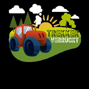 Trekker Traktor verrückt Geschenk für Jungen