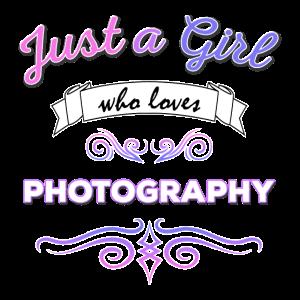 Nur ein Mädchen, das Fotografie liebt