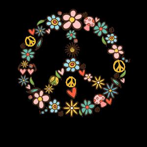 Peace Symbol 60er 70er Jahre Hippie Kostüm