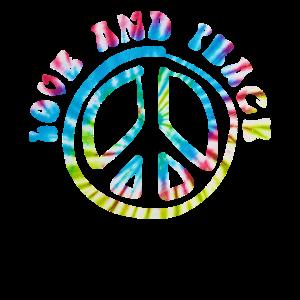 Love and Peace 60er 70er Jahre Hippie Kostüm