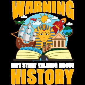 Lustige Warnung kann anfangen, über Geschichte zu sprechen
