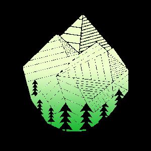 Wandern Polygon Geschenk I Geometrisch Wanderer