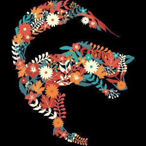 Fuchs Delfin Blumen