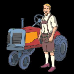 Bauer Bayerische Lederhose Traktor Oldtimer