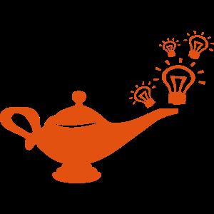 magische Lampe magische Glühbirne idee Geist