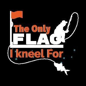 Fischer Flagge Knien Lustig