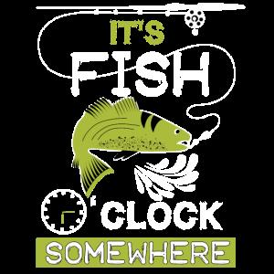 Fisch Uhr Lustig