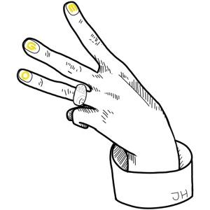 JH Hand EGO - Black&Yellow