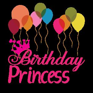 Birthday Princess mit Ballon