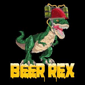 Bier T-Rex Tyrannosaurus Dino Trinkhelm Dosenbier