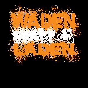 Waden statt Laden Anti E-Bike Fahrrad Sprüche