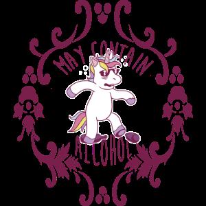 Dizzy unicorn may contain alcohol