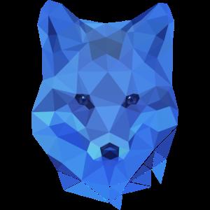 Blue Fox low poly