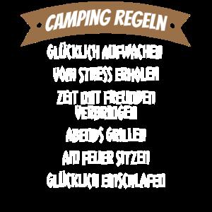 Camping Regeln Keine stress und Zeit mit Freunden