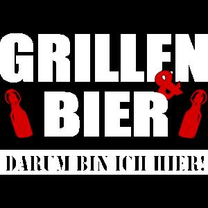 Grillen und Bier darum bin ich hier